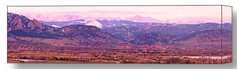 Boulder Colorado Sunrise Panorama Stretched Canvas Print