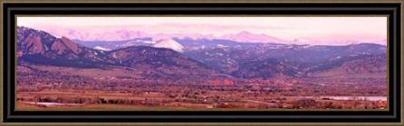 Boulder Colorado Sunrise Panorama Framed Fine Art Print