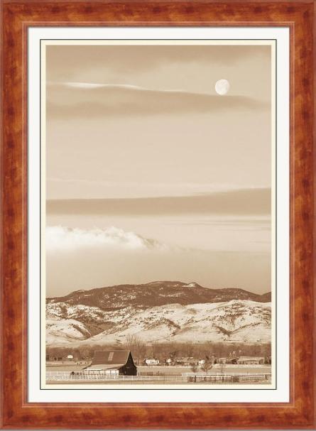 Boulder County Colorado Country Moon Framed Fine Art Print