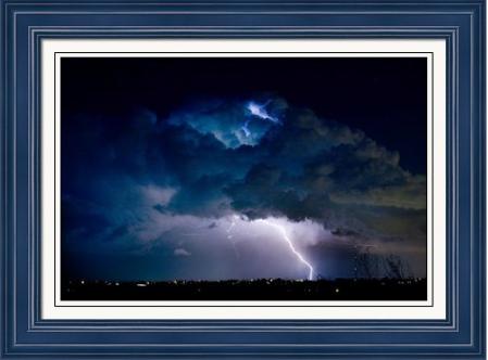 Clouds of Light Lightning Striking Boulder County Colorado Framed Fine Art Print