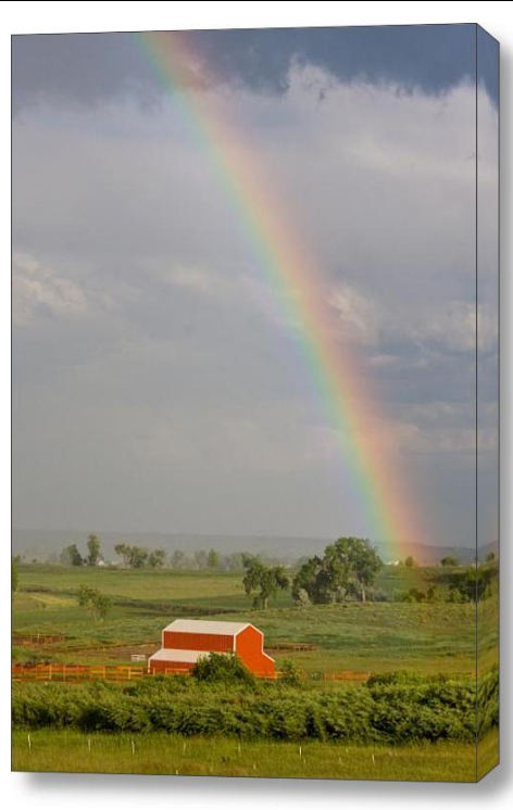 Country Rainbow Stretched Canvas Print  Canvas Fine Art