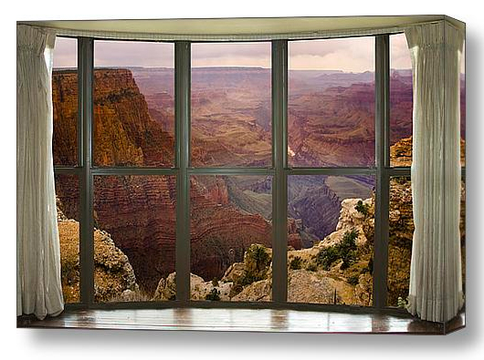 Grand Canyon Bay Window View Dimensions of Interior Decorations Redefined with Fine Art Windows