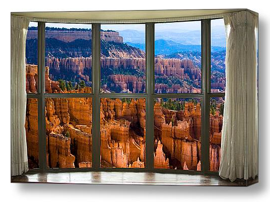 Bryce Canyon Bay Window View Discover Beauty of Windows Scenic Views With Window Fine Art Prints