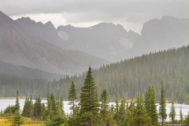 Rainy Colorado Rocky Mountain Summer View 800s Interior Planning and Art Work Character Photography