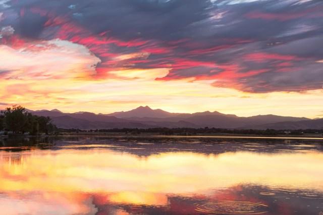 Colorful Colorado Rocky Mountain Sky Reflections Wall Art Print
