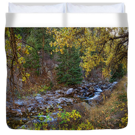 Boulder Creek Autumn View King Duvet Cover