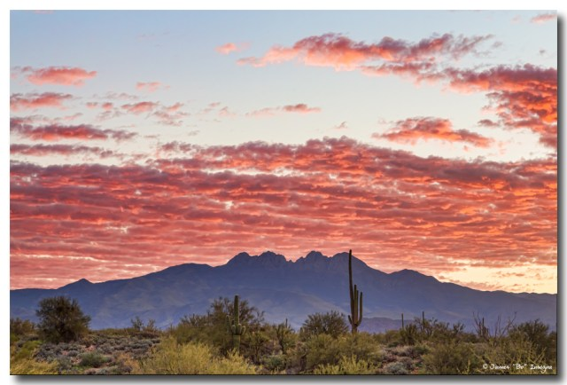 Arizona Four Peaks Mountain Colorful View Art Prints