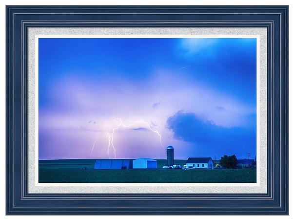 Colorado Country Lightning Storm Framed Print