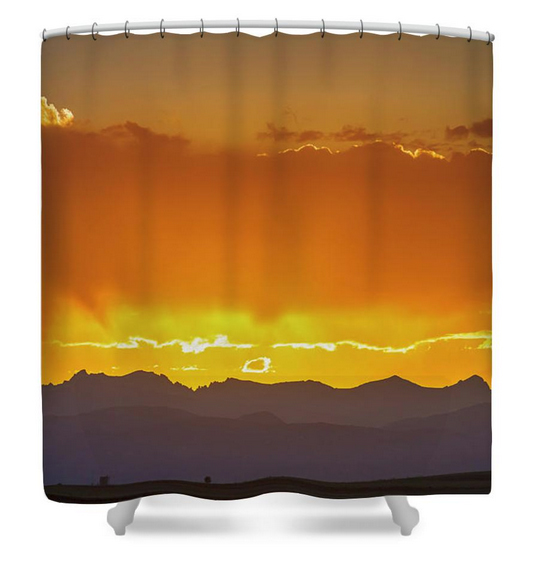 Colorado Rocky Mountains Golden September Sunset Sky Shower Curt