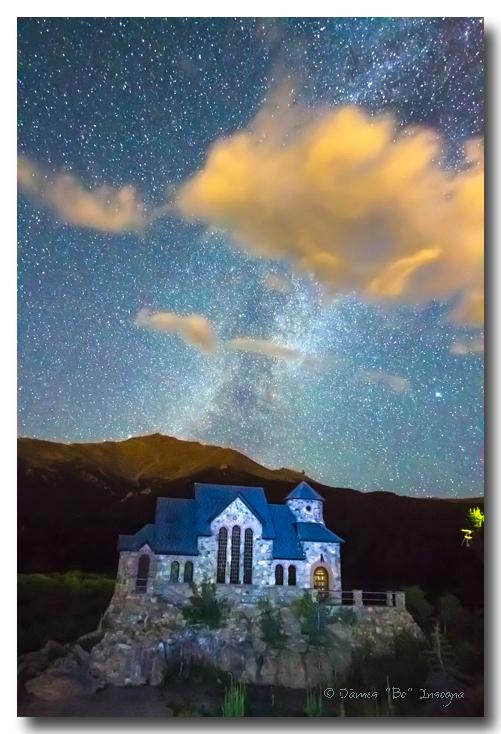 Chapel On The Rock Milky Way Sky Art Prints