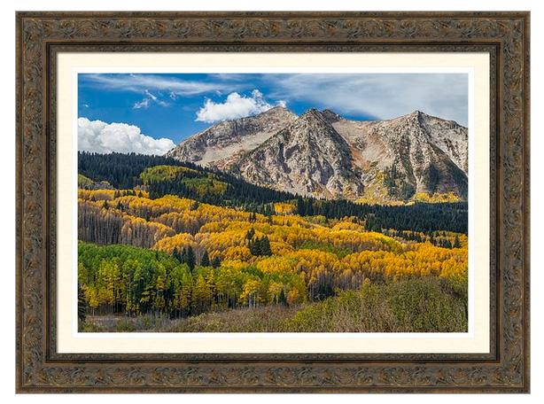 Rocky Mountain Autumn Season Colors Framed Print
