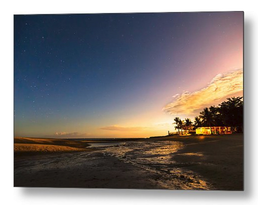 Bantayan Low Tide Nighttime View Metal Print