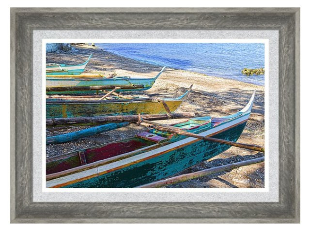 Group Of Fishing Palm Boats Framed Print