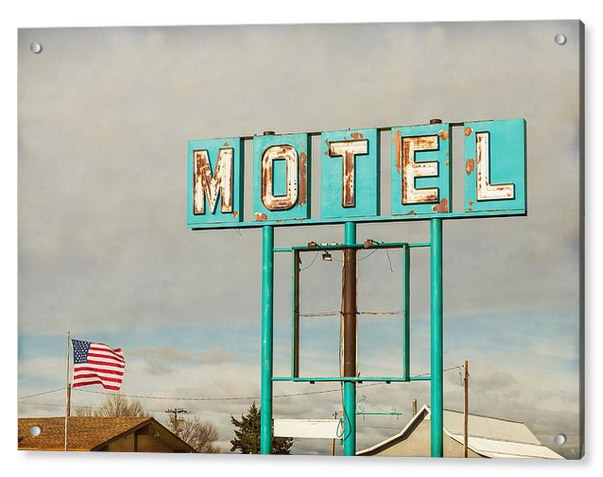 American Retro Motel Sign Acrylic Print