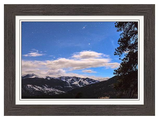 Rocky Mountain Evening View Framed Print