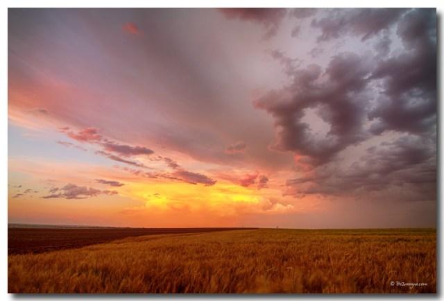Colorado Eastern Plains Sunset Sky
