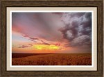 Colorado Eastern Plains Sunset Sky Framed Print