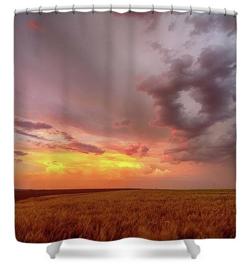 Colorado Eastern Plains Sunset Sky Shower Curtain