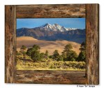 Rustic Wood Window Colorado Great Sand Dunes View Canvas Print