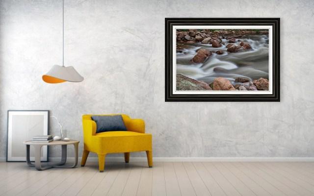 Rocky Mountain Flow Framed Wall Art Prints