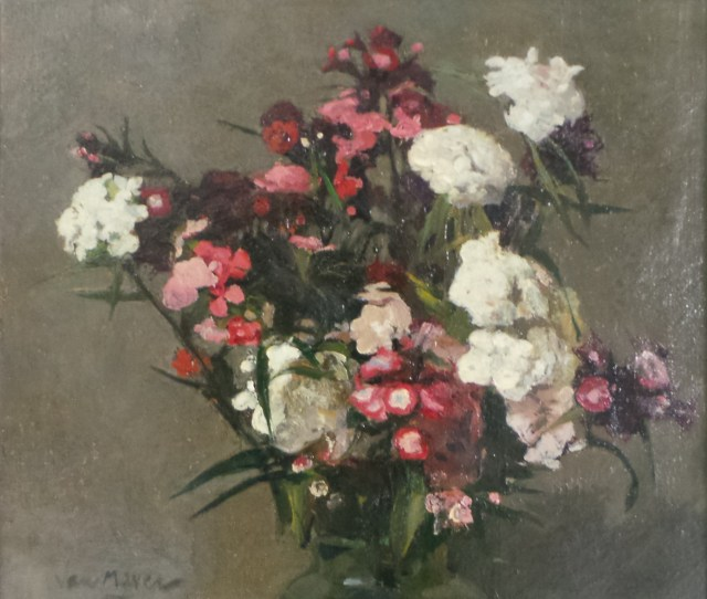 Adriaan P Van Mever Sweet William Still Life