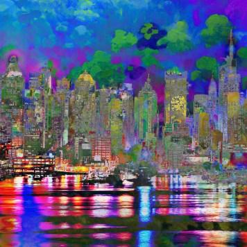 City Landscape Impressionism
