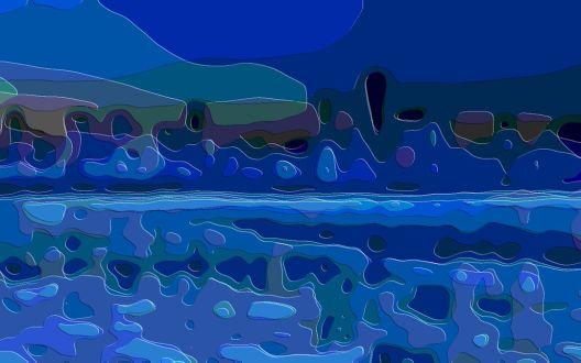 Art Print Blue Landscape