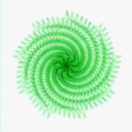 Spirograph Layer Art Green Twist