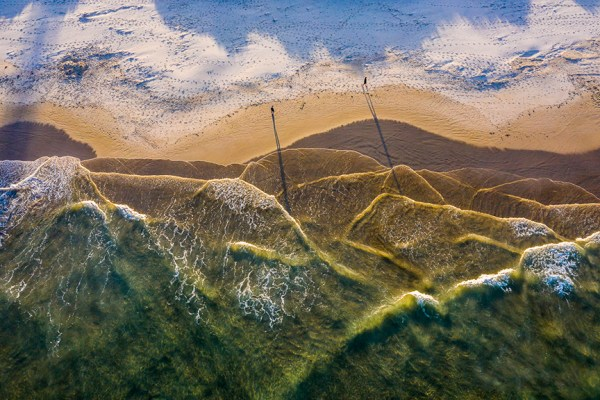 Bay of Mountains- Aerial Artwork