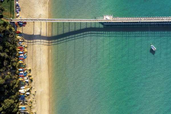 Couta Beach, Aerial Artwork, Brian Randall, Sorrento, Mornington Peninsula, Victoria