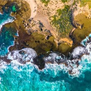 Natural Rock Pool - Aerial Artwork