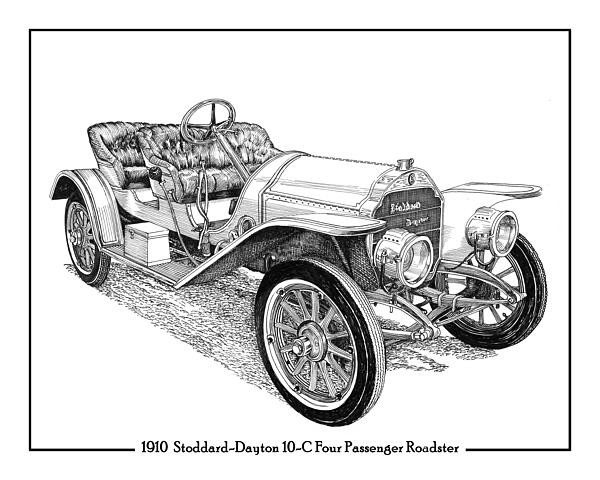 Indy Roadster Drawings Canvas Prints and Indy Roadster