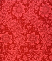 Red Sunflower Wallpaper Design, 1879 Drawing by William Morris