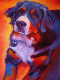 smART Class: Warm/Cool Color Dog Paintings