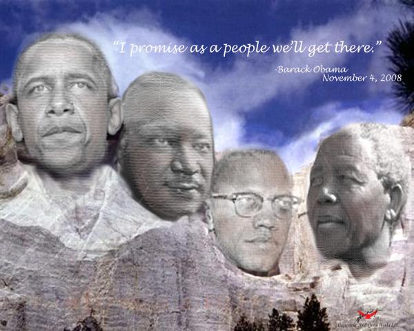 Black Rushmore in effect....four people that everyone should know...