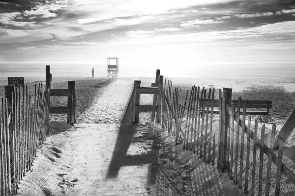 The Beach in Black and White Photograph - The Beach in Black and White Fine