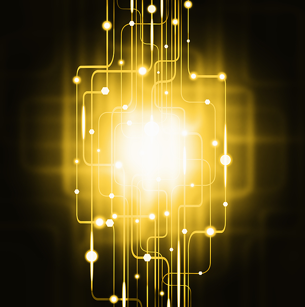 Abstract Circuit Board Lighting Effect Is A Photograph By Setsiri