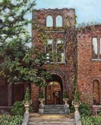 Barnsley Garden Ruins Painting by Freida Petty