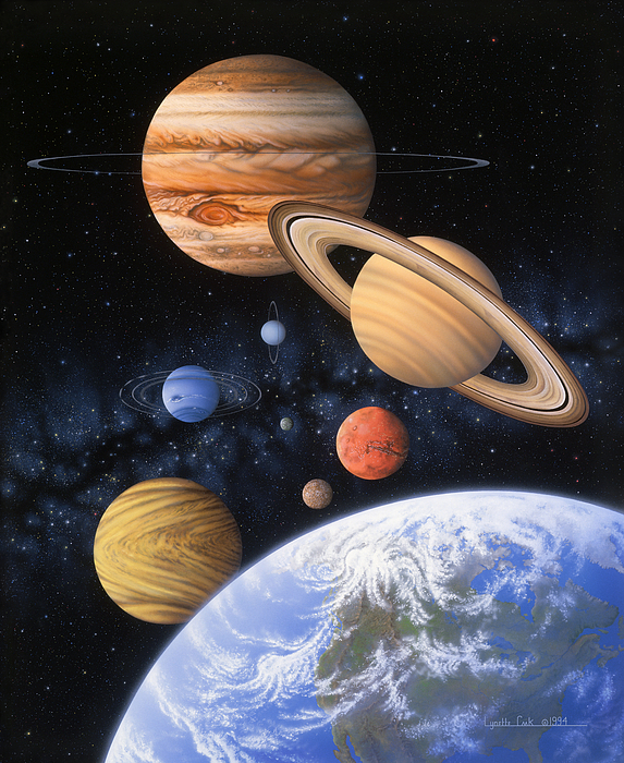 Eight Planets Solar Picture