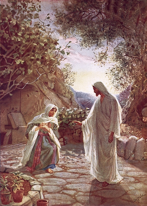 Bible; Jesus Christ; Revealing Himself; Resurrection; Mary Magdalene Painting - Jesus Revealing Himself To Mary Magdalene by William Brassey Hole