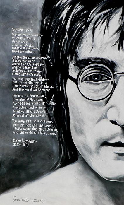 Iphone X Inside View Wallpaper John Lennon Imagine Painting By Eddie Lim