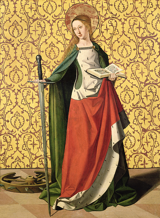 Saint Catherine of Alexandria by Josse Lieferinxe