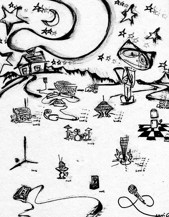 Stitchlip's World Drawing by Levi Glassrock