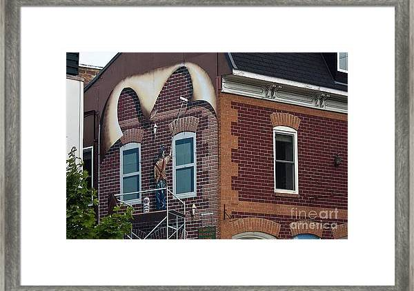 Intriguing Framed Print featuring the photograph Intriguing Mural Art In Smith Falls, Ontario by Tatiana Travelways