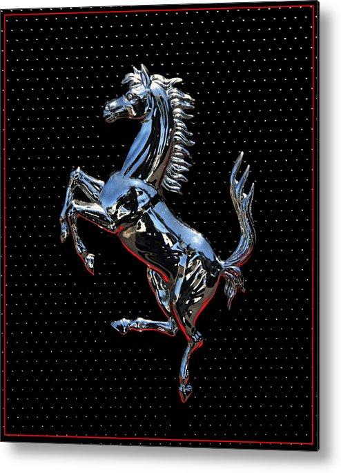 ferrari emblem 2 metal