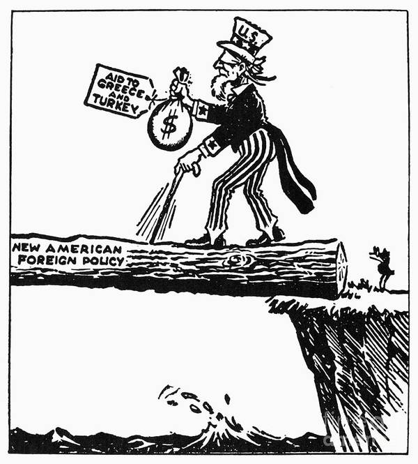 Truman Doctrine Cartoon Poster by Granger