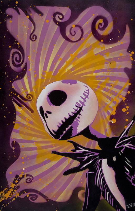 Creepy Fall Wallpaper Jack Skellington Art Print By Tai Taeoalii