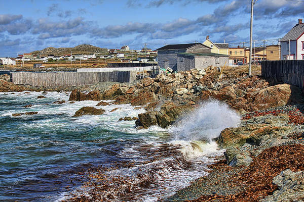 Cape Bonavista Art Print featuring the photograph Cape Bonavista Coastline Fence by Tatiana Travelways