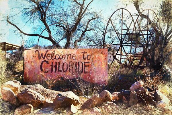 Chloride Art Print featuring the photograph Welcome To Chloride Arizona by Tatiana Travelways