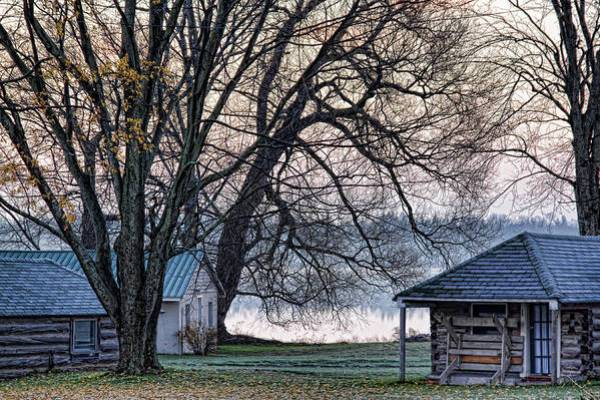October Art Print featuring the photograph October Morning Frost By The Lake by Tatiana Travelways